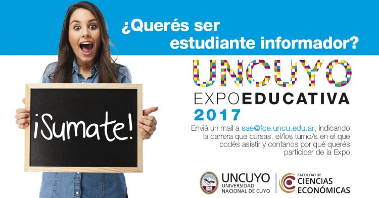 ¿Querés ser un estudiante informador en la Expo Educativa 2017? ¡Sumate!