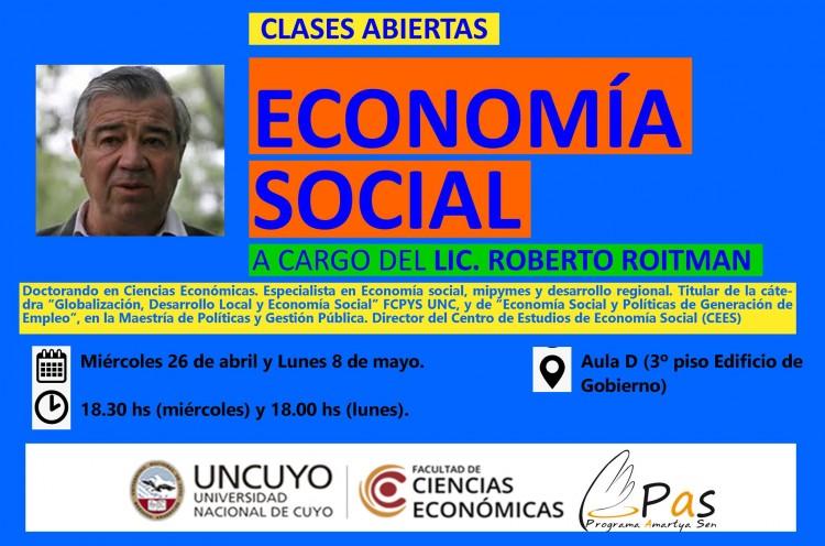 Clases abiertas de Economía Social con Roberto Roitman