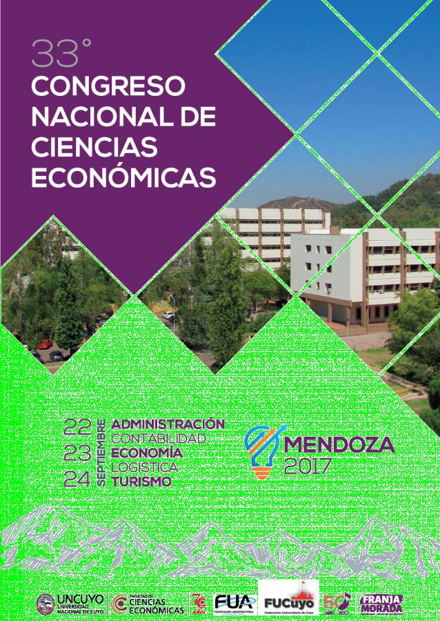 33° CONGRESO NACIONAL DE CIENCIAS ECONÓMICAS MENDOZA 2017