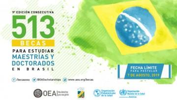 Programa de becas Brasil PAEC OEA-GCU Maestrías y Doctorados