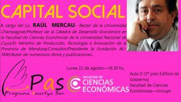 Clase abierta sobre CAPITAL SOCIAL a cargo del Lic. Raúl Mercau