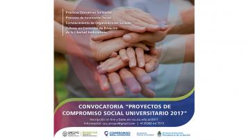 """Convocatoria Anual 2017 del Programa de Voluntariado Universitario""""Compromiso Social Universitario"""""""
