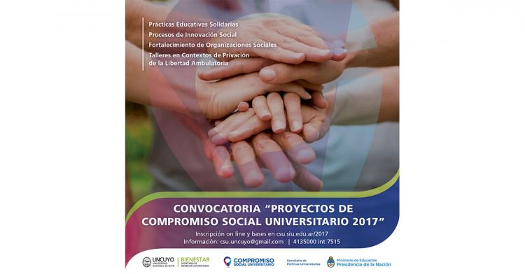Convocatoria Anual 2017 del Programa de Voluntariado UniversitarioCompromiso Social Universitario