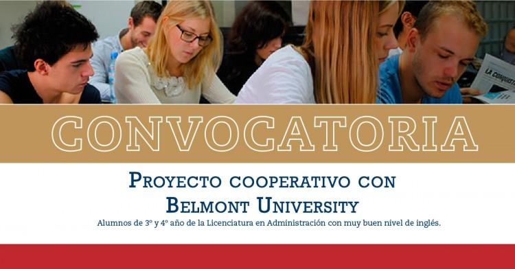 Convocatoria para participar de proyecto de intercambio estudiantil con alumnos de la Universidad de Belmont, Nashville, USA   -      Mayo 2017