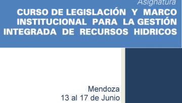 Comienza el Curso sobre Legislación y Marco Institucional para la Gestión de Recursos Hídricos