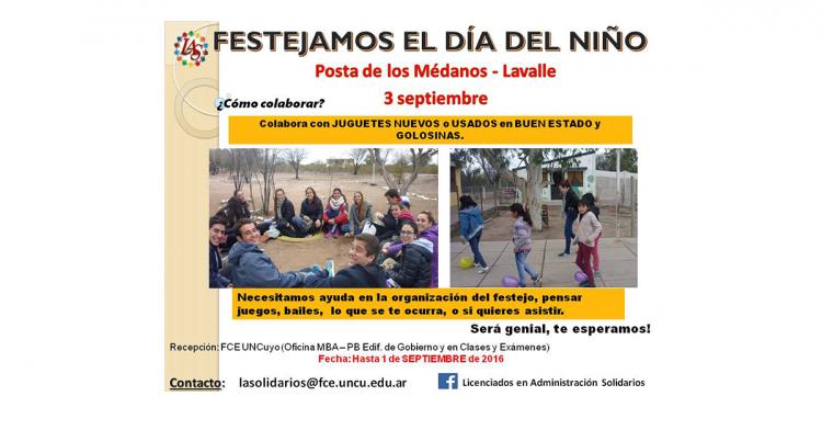Licenciados en Administración Solidarios festejarán el día del niño