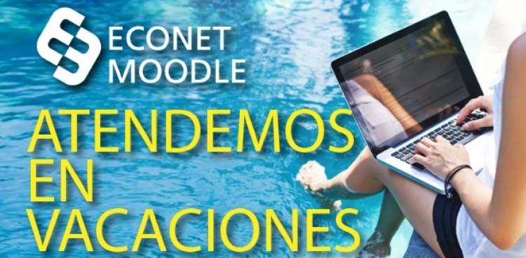 Econet Moodle atenderá consultas durante las vacaciones