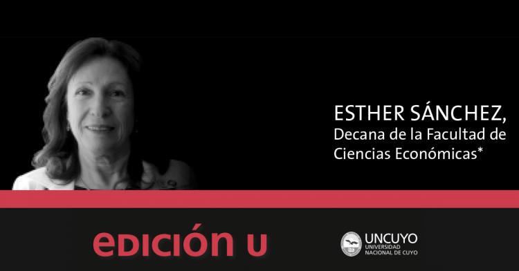 El cometido de la logística, editorial para EDICION U realizada por la Sra. Decana de nuestra Facultad Esther Sánchez.