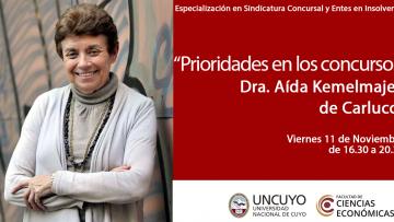 """Disertación para profesionales: """"Prioridades en los concursos"""" Dra. Aída Kemelmajer de Carlucci"""