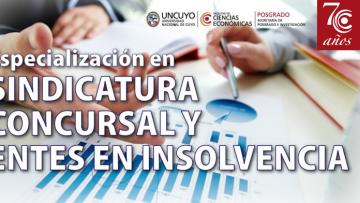 imagen que ilustra noticia Especialización en Sindicatura concursal y entes en insolvencia. INICIO MAYO 2017