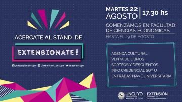 """El stand """"Extensionate!"""" brindará información y algunas sorpresas de todas las actividades que la Secretaría de Extensión Universitaria ofrece."""