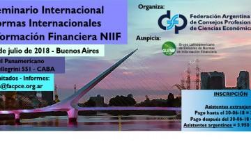 VII Seminario Internacional sobre Normas Internacionales de Información Financiera | Buenos Aires 2018