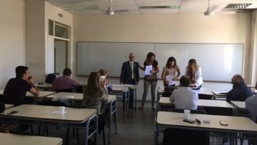 El Secretario Académico Ramiro Nousssan Lettry y la Directora de Carrera de CPN Cdora. Marta Boschin viajaron a San Rafael, a efectos de reunirse con los docentes efectivizados