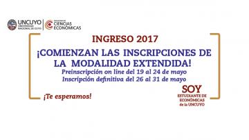Comienzan las inscripciones para la Modalidad Extendida del Ingreso 2017.