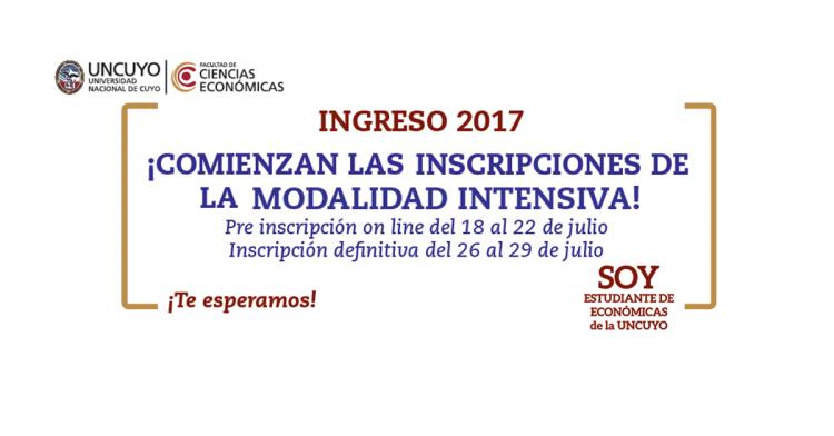 Comienzan las inscripciones para la Modalidad Intensiva del Ingreso 2017.