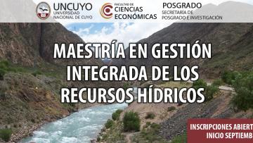 imagen que ilustra noticia Maestría en Gestión Integrada de los Recursos Hídricos