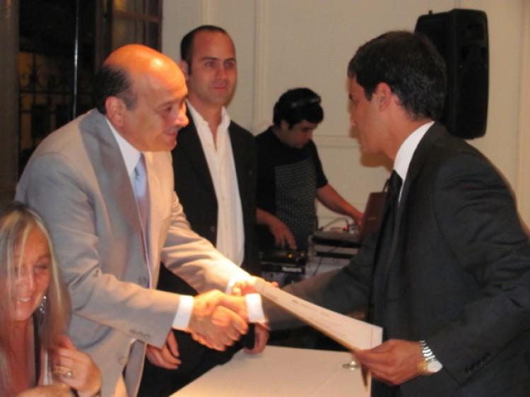 Entrega de certificados en el MBA