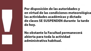 Suspensión de Clases por Zonda - 04/10/2017