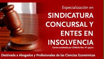 SUSPENDIDO: Especializacíón en SINDICATURA CONCURSAL Y ENTES DE INSOLVENCIA