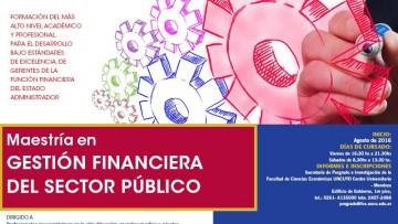 Maestría Gestión Financiera del Sector Público