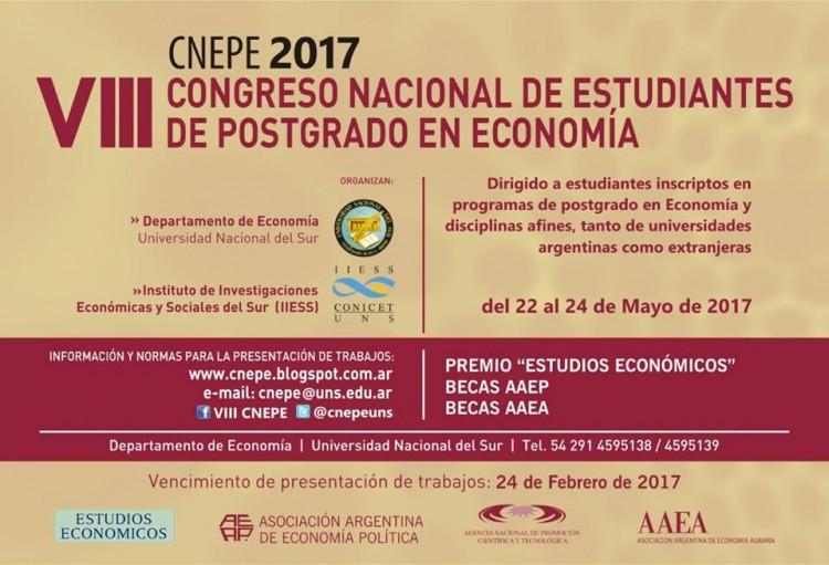 VIII Congreso Nacional de Estudiantes de Posgrado en Economía