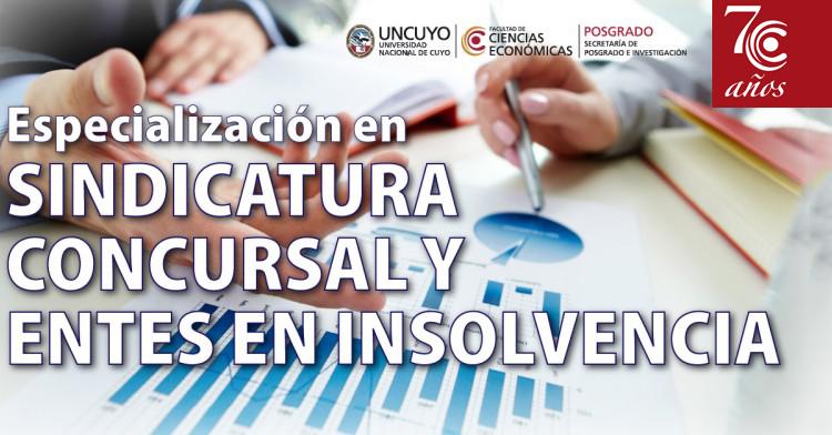 Especialización en Sindicatura concursal y entes en insolvencia. INICIO MAYO 2017