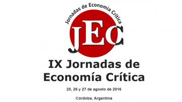 IX Jornadas de Economía Crítica