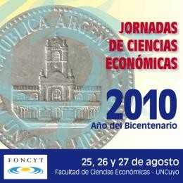 Jornadas de Ciencias Económicas 2010